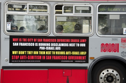 Ad accusing San Francisco of enforcing Sharia Law Photo by Steve Rhodes